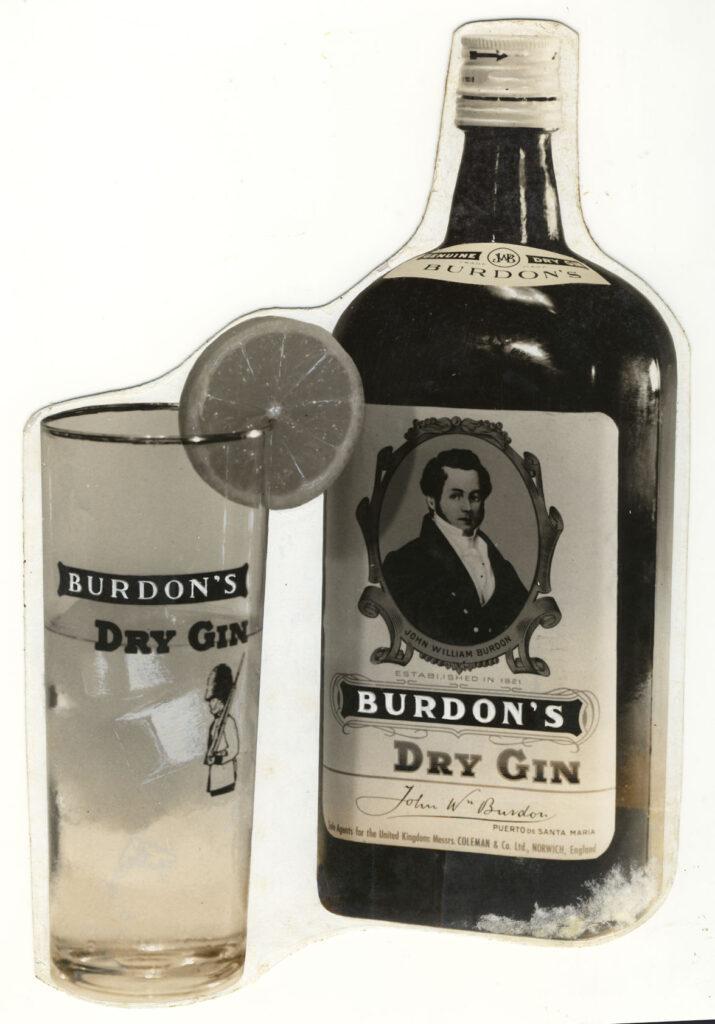 Botella antigua de Burdon