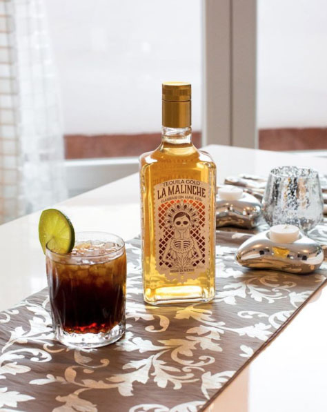 Tequila Malinche en copa