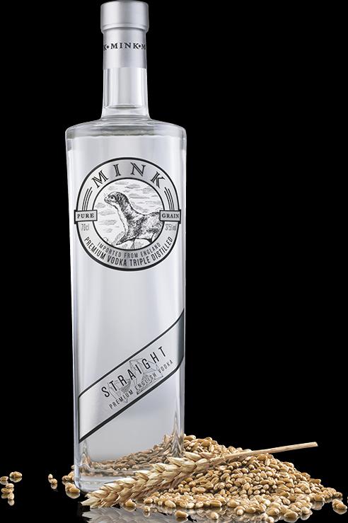 Botella de Vodka Mink Straigh