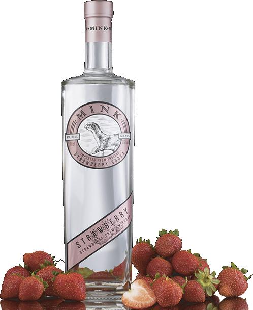 Botella de Vodka Mink Strawberry
