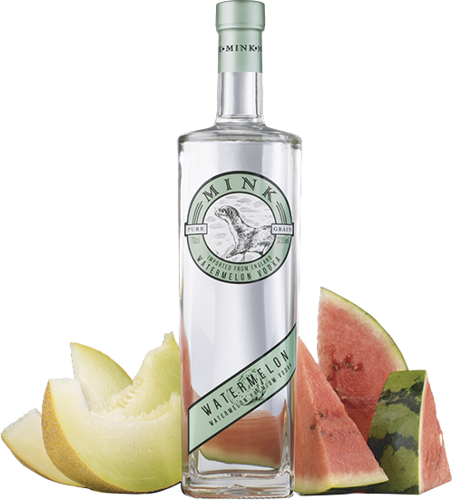 Botella de Vodka Mink Watermelon